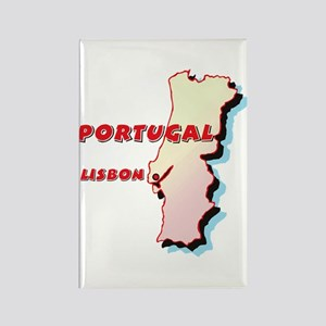 Portugal Map Rectangle Magnet